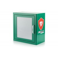 White or Green Metal Indoor Cabinet With Alarm.
