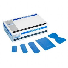 Pk 100 Assorted Blue Detectable Plasters