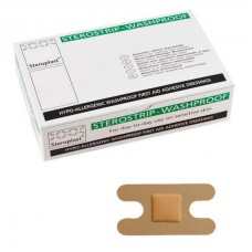 Pk100 Sterostrip Hypoallergenic Anchor Knuckle W/P Plasters (00022)