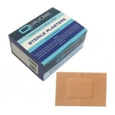 Pk100 Qualicare Latex Free Fabric Plasters 7.2 x 5cm