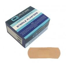 Pk100 Qualicare Latex Free Fabric Plasters 7.2 x 2.5cm