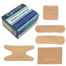 Pk100 Qualicare Latex Free Fabric Plasters 5 Assorted