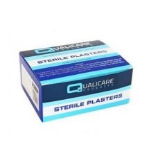 Pk100 Qualicare Latex Free Blue Detctable Plasters Fingertip
