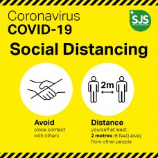 Social Distancing Signs, Hanging Boards, Window Graphics